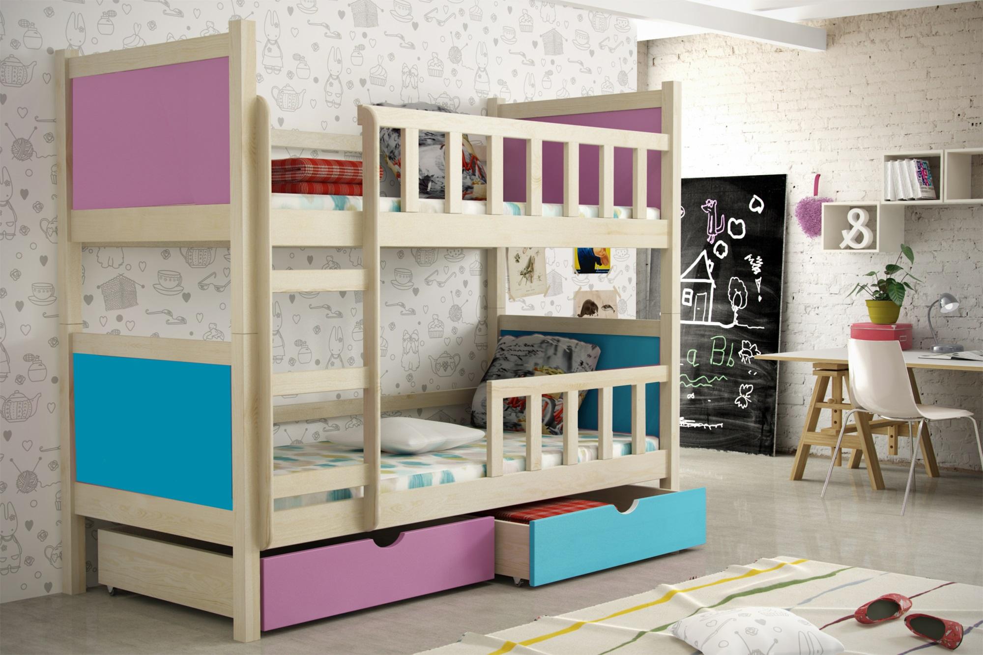 Etagenbett Für Zwei : Etagenbett stockbett k n kopf und fußteil gerade buche